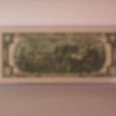 Memphis belle Series 2013 Colorized Two Dollar Bill 1142