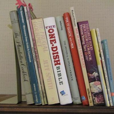 Nice Collection of Cook Books on Both Shelves (See all Pictures)