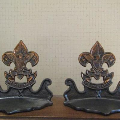 Set of Boy Scouts of America Metal Bookends 6
