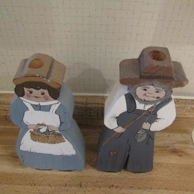 Wood Cut Out Country Couple 10