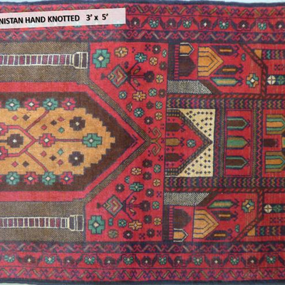 Afghanistan Hand knotted Rug 3' x 5'
