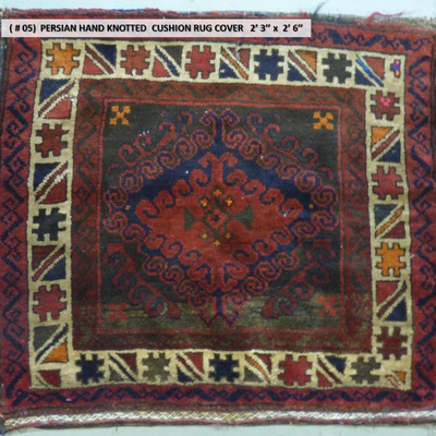 Persian Hand knotted Antique Cushion-Rug Cover 2'3