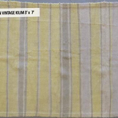 Persian vintage KILIM 3' x 7'
