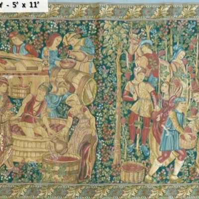 Authentic Oriental Tapestry 5' x 11'