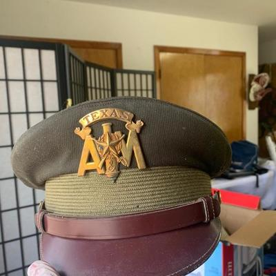 Texas A&M corps or cadets ROTC dress service hat