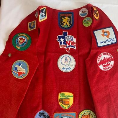 Vintage patches on shirt