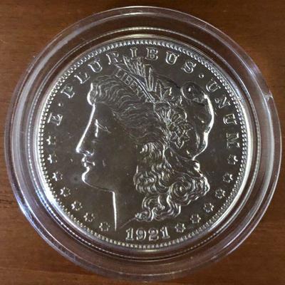 Lot #2 1921 Morgan Silver Dollar $1 90% Silver
