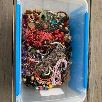 15 lbs of Misc Broken Costume and Fashion Jewelry