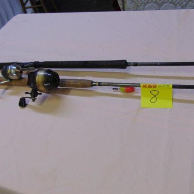 8 Rods and reels