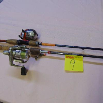 9 Rods and reels