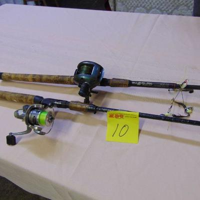 10 Rods and reels