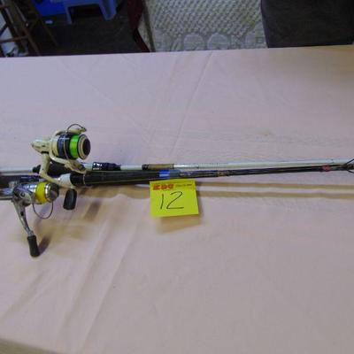 12 Rods and reels