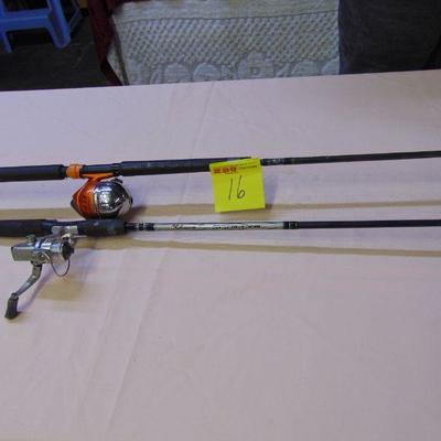 16 Rods and reels