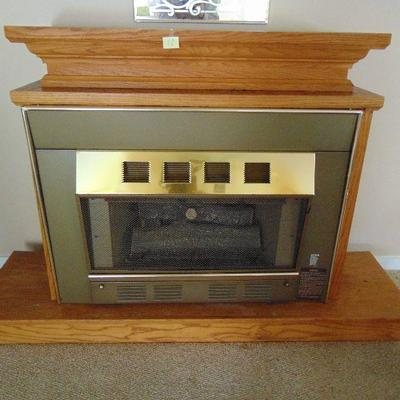 11 Gas log fireplace