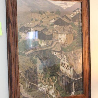 Lot 3 Framed Village Print