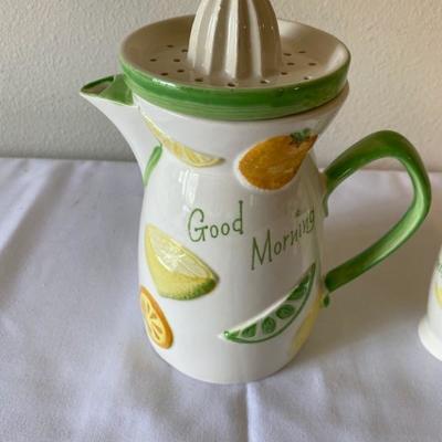 Vintage Good Morning Juicer/Pitcher & Cups