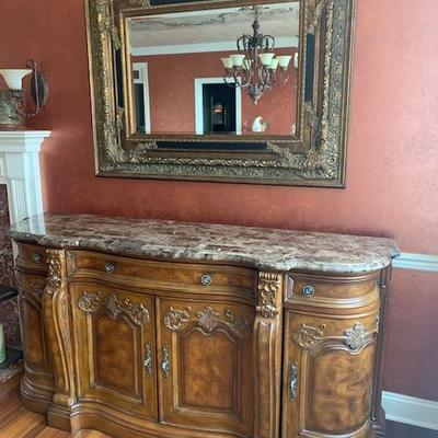 COLLECTION EUROPA MARBLE TOP SIDEBOARD 76