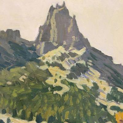 Robert Daughters original oil on canvas painting 1929-2013 Noted & Listed Southwest painter