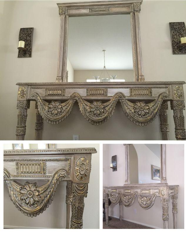 This French traditional entrance is a one of the kind hand made work, The Artist uses the natural Wood & vegetable color,