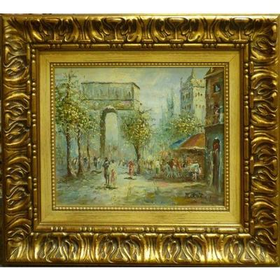 Spanish Andalucia oil Painting, by Burnit from cordoba (1954). This Spanish traditional oil painting is a one of the kind hand painting...