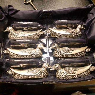 Silea Silver Plated Mallard Knife Rests