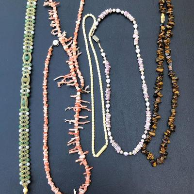 Lot of 5 Decorative Beaded Necklaces