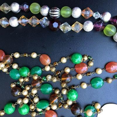 Colorful Lot of Contemporary Beaded 5 Necklaces