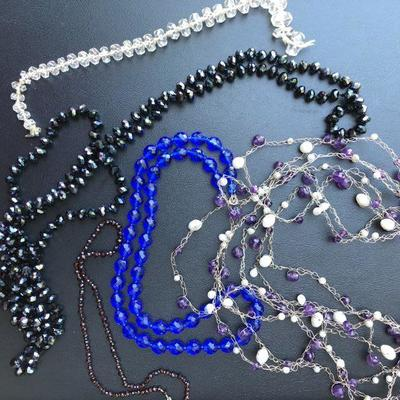 Lot of Austrian Crystal and Glass Beaded Necklaces