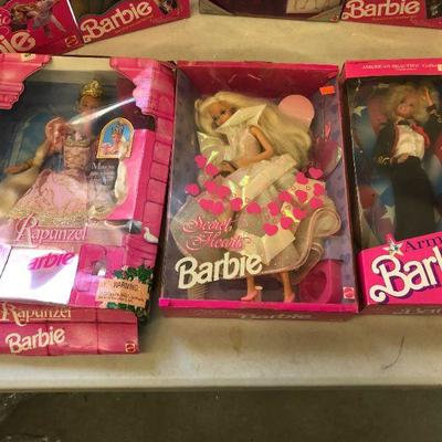 Large Lot of 68 Boxed Mostly Barbie Dolls