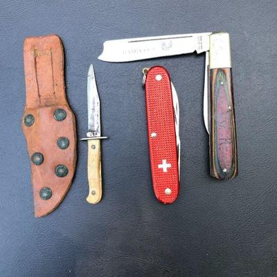 Lot of 2Vintage Knives; Cutting Knife and 1 Jack Knife