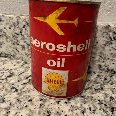 Aeroshell canned oil.