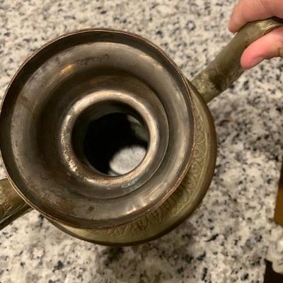 Antique/vintage Ornate Handmade Asian Copper Brass Tea Pot