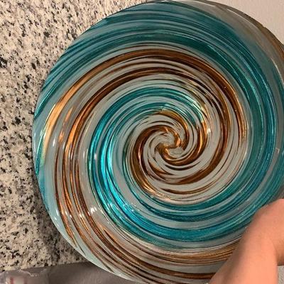 Decorative glass bowl.