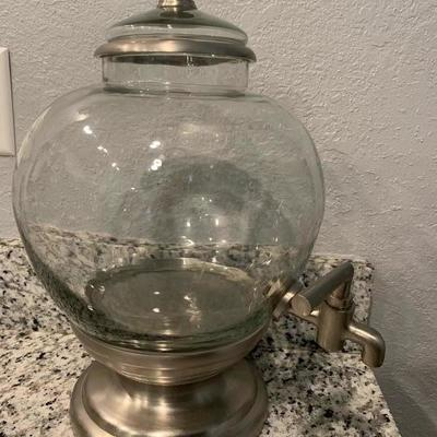 Glass fish bowl drink pitcher