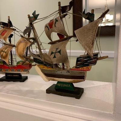 Antique Model Ship Wooden