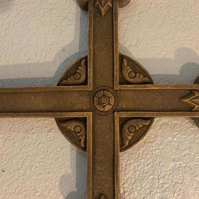 Jesus God Cross Religious Resin Wall Hanger 16