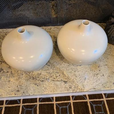 PAIR OF MITCHELL GOLD VASES $90