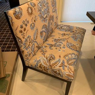 PAIR OF UPHOLSTERED BANQUETTES $500 EA