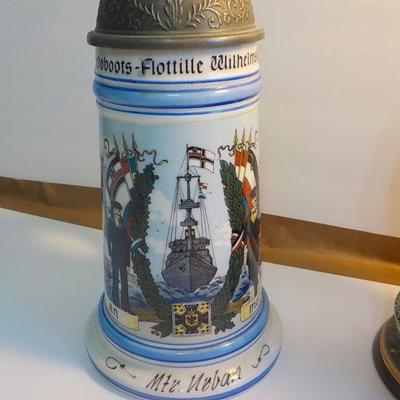 Stunning German stien with German Naval ships of WW2. rare one.