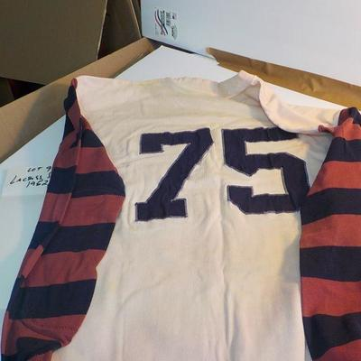 1962 University of Penn, Lacrosse Varsity playing shirt.