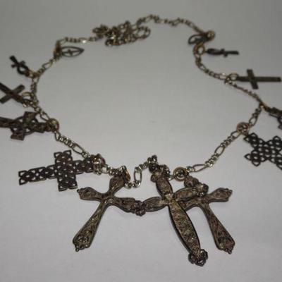 Amazing Light Weight Cross Necklace, Primitive Crosses