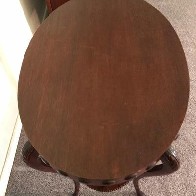 Vintage Oval Double Tier Occasional Table