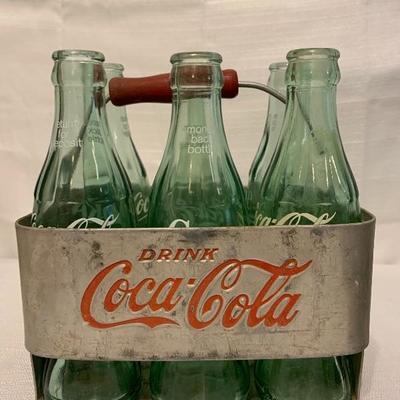 Vintage Coca Cola Coke Aluminum Metal 6-Pack Bottle Holder Drink Carrier Caddys
