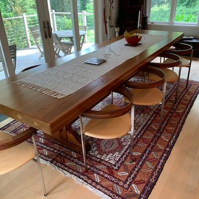 Exquisite Custom Walnut Dining Table 11.8'x3.3'  $5800