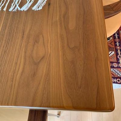 Close Up of Walnut Dining Table