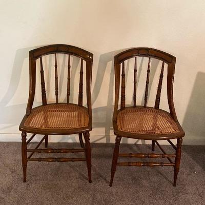 Pair of Cain Seat Chairs