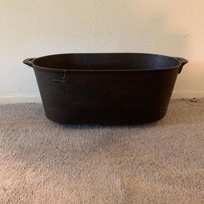 Heavy Oblong Cast Iron Pot