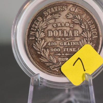1872 Silver Trade Dollar   7