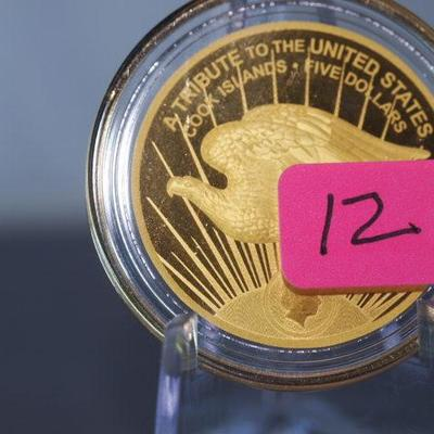 2020 5 Dollar St Gaudens Tribute .9999 Gold Coin   12