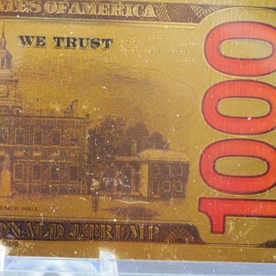 Trump 1000 Dollar Gold bill  14